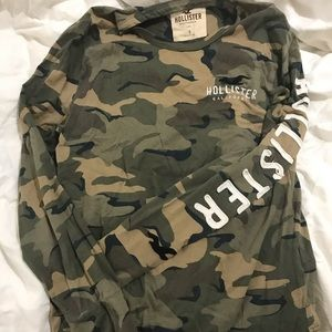 Long Sleeve Hollister Camo Shirt
